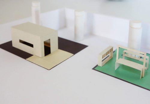「郊外のすゝめ」展覧会の模型